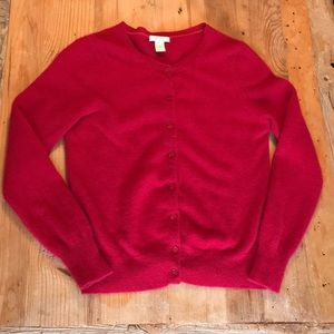 Tweeds Red 100 %Cashmere Cardigan, Large